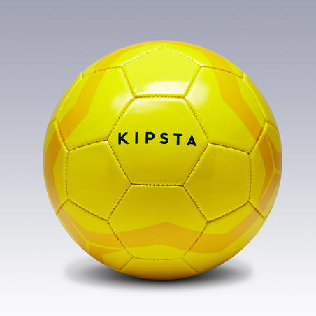 First Kick Football Size 4 (for children ages 8 to 12 years) - Yellow