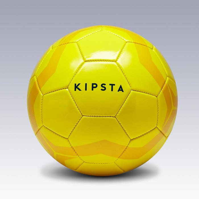 Ballon de football First Kick taille 4 (enfants de 8 à 12 ans) jaune