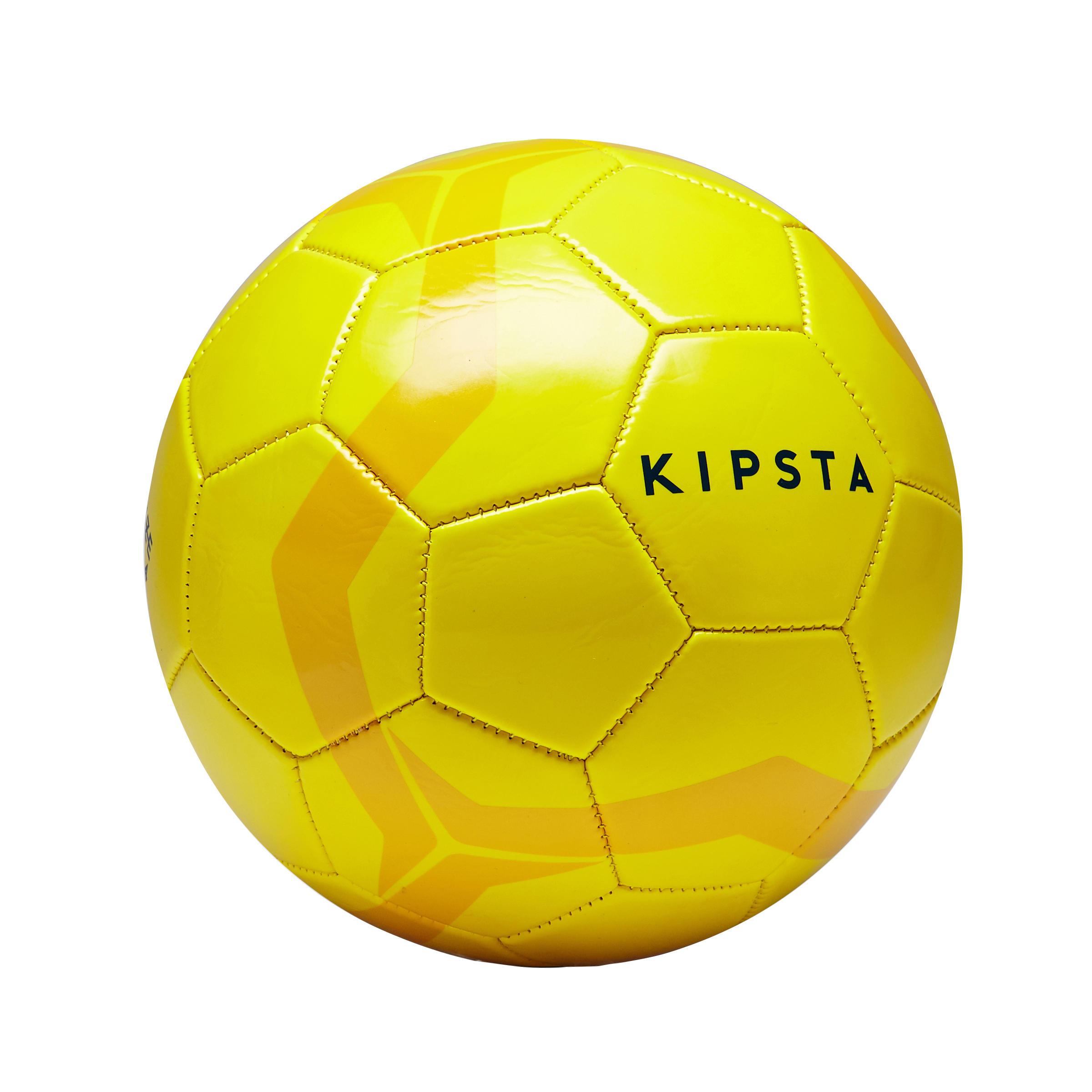Ballon de soccer First Kick taille 4 (enfants de 8 à 12 ans) jaune