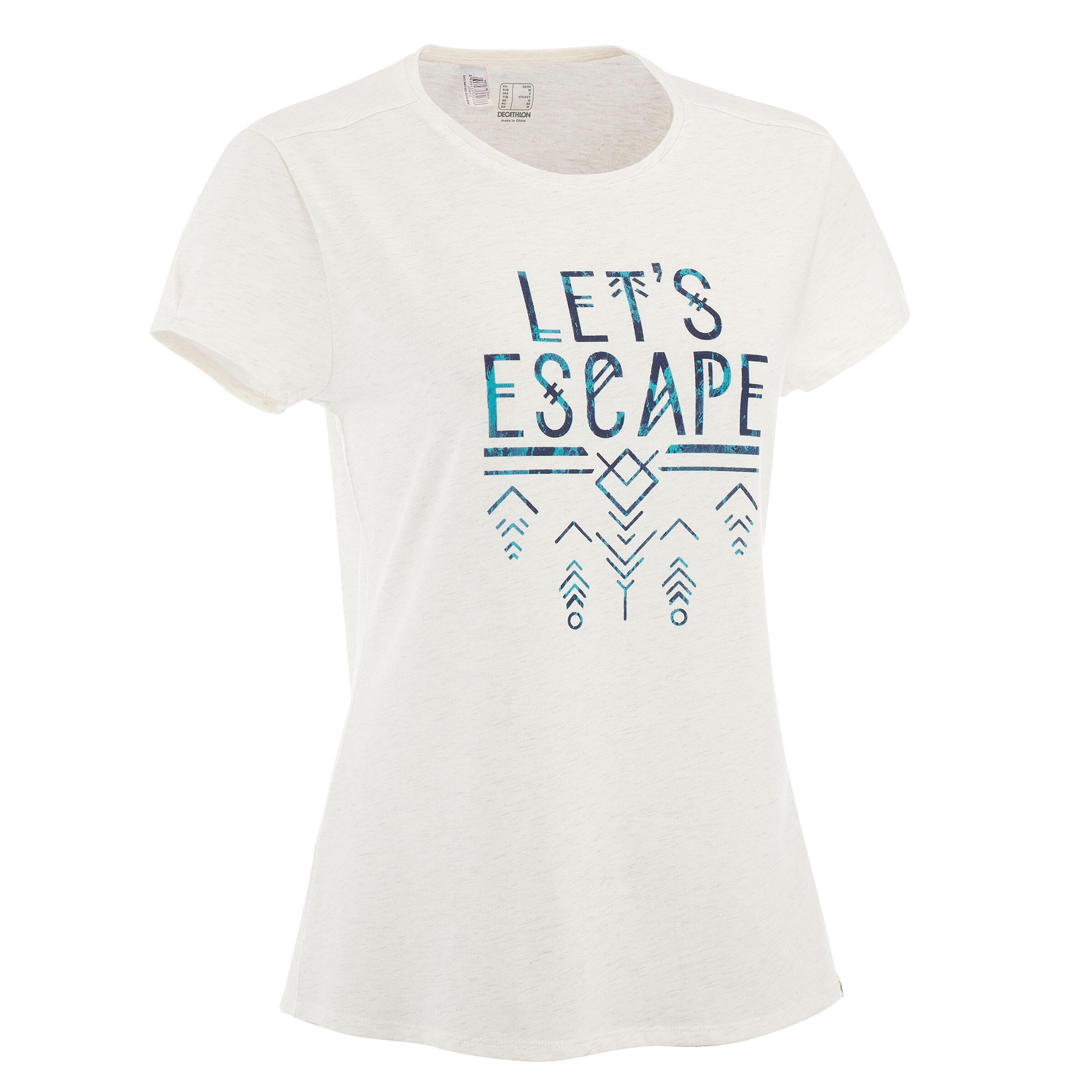 NH500 Women's Country Walking T-shirt - Mottled White