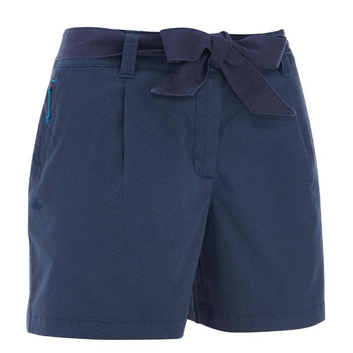 Pantalón Corto Short de Montaña y Senderismo Quechua NH500 mujer Azul