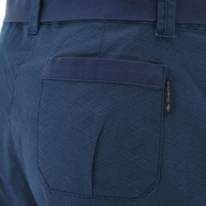 Wander-Shorts NH500 Nature Damen marineblau/Print