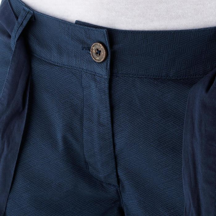 Wandershorts Naturwandern NH500 Fresh Damen Print marineblau