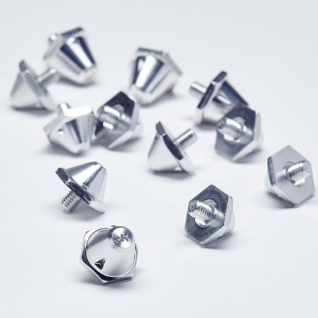 10-13 mm Aluminum Soccer Cleat Spikes - Silver