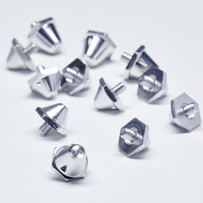 Schroefnoppen 10-13 mm Silver voor voetbalschoenen / rugbyschoenen