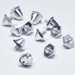 Tacos de aluminio 10-13 mm Silver para botas de fútbol