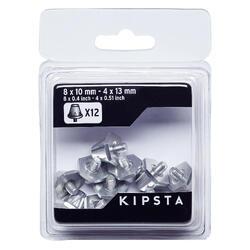 Pitões alumínio 10-13mm para Chuteiras de Futebol Silver