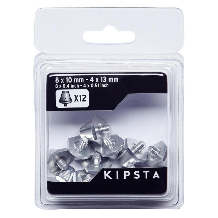 Schroefnoppen 10-13 mm Silver voor voetbalschoenen / rugbyschoenen - 1293396