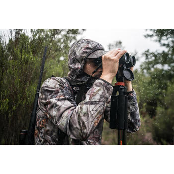Veste chasse Silencieuse Imperméable Light 500 camouflage BROWN