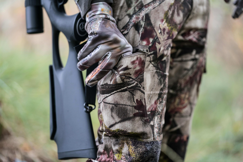 Pantalon Steppe 100 Actikam camouflage brun
