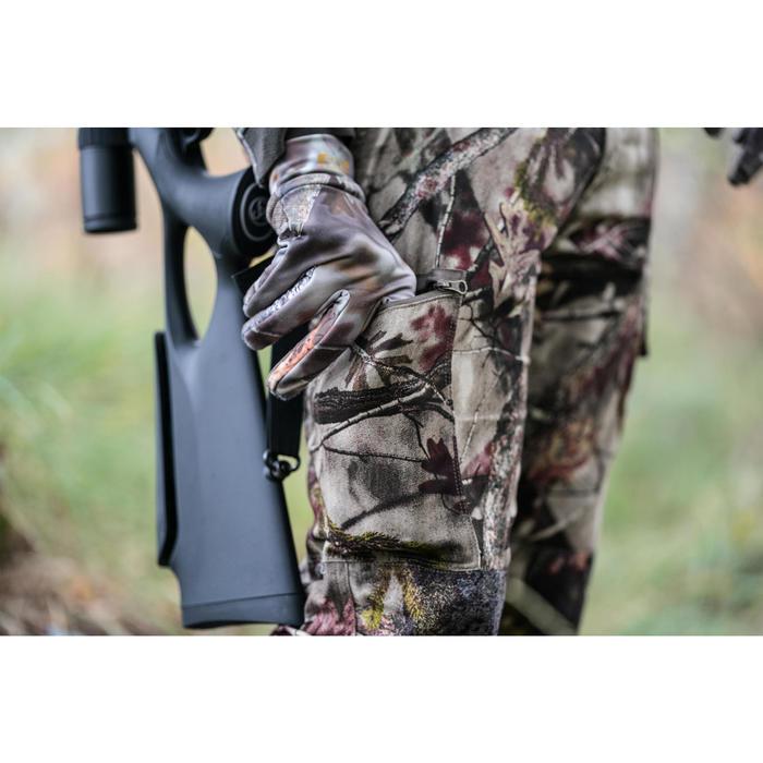 Jagd-Handschuhe Actikam 100 ultraleicht Camouflage braun