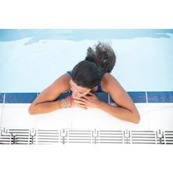 Bañador Natación Piscina Nabaiji Vega Mujer Espalda Al Aire Tirantes Anchos Azul