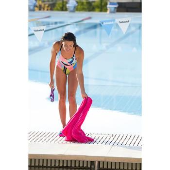Maillot de bain de natation femme une pièce Riana Pop bleu blanc