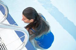 Women's 1-piece swimsuit Heva - Blue