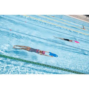 Bañador de natación moldeador una pieza Kaipearl falda Blanco