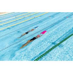 Maillot de bain de natation femme une pièce Loran noir Kal rose