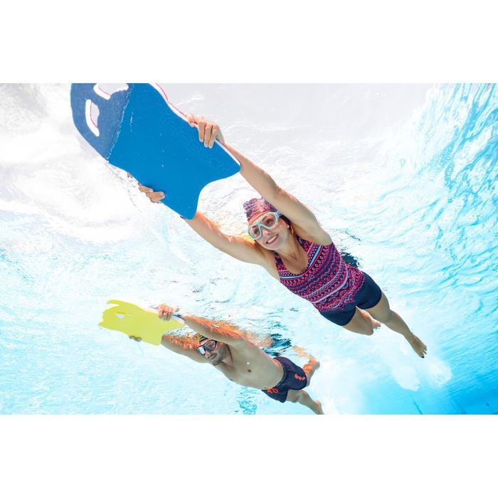 Zwemshort voor heren 100 Free marineblauw oranje