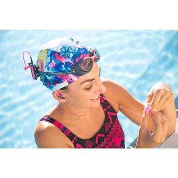 Kit écouteurs MP3 étanches de natation bleu - 1293620