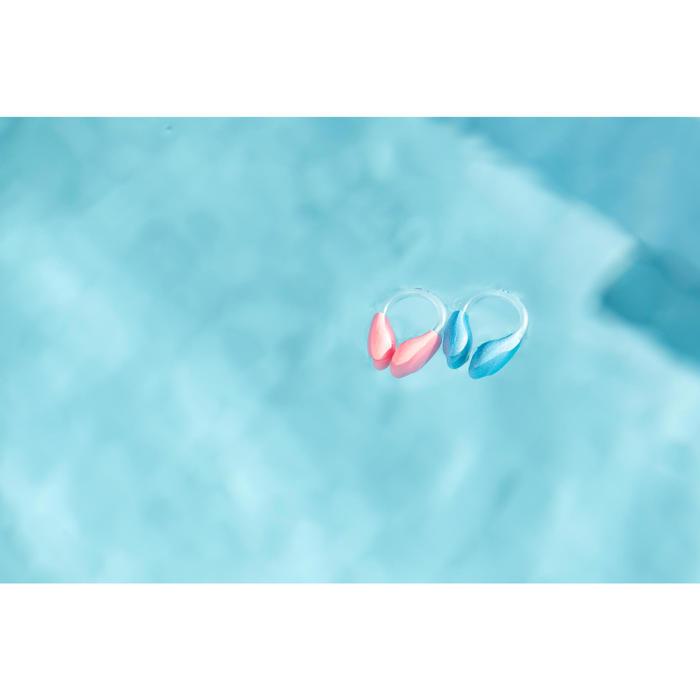 漂浮游泳鼻夾 - 橘色/粉紅色