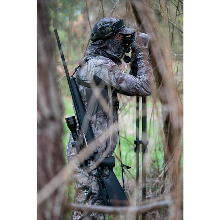 Nekwarmer voor de jacht ademend BGS500D bruine camouflage