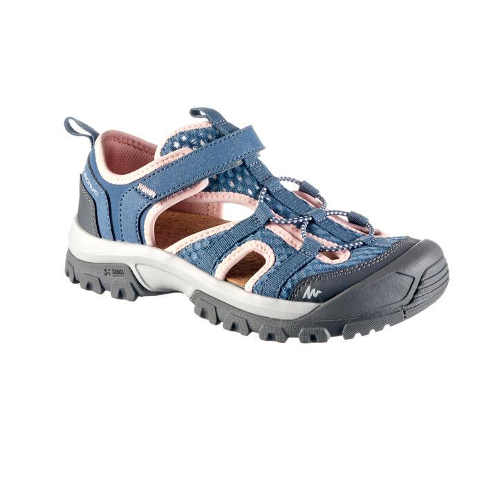 Sandalias de senderismo niños NH900 JR Gris/Rosa