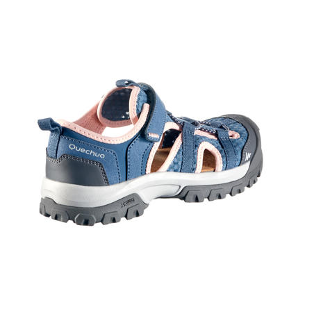 MH150 Kids Hiking Sandals - Grey/Pink