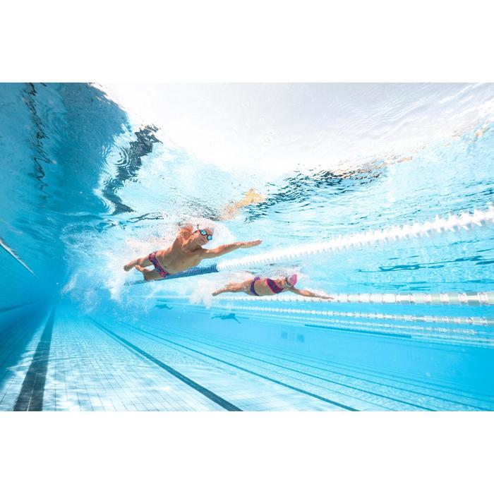 Choorbestendige zwemslip meisjes Jade blauw/zwart