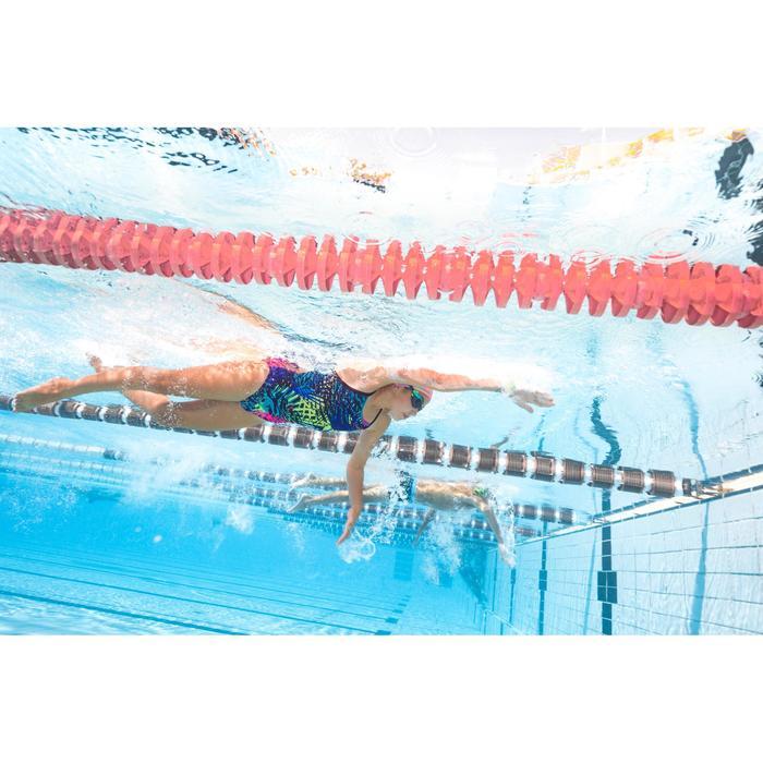Maillot de bain de natation une pièce fille résistant au chlore Jade - 1293822