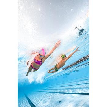 Bas de maillot de bain de natation fille résistant au chlore Jade noir rose - 1293825