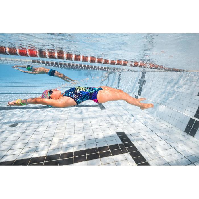 Maillot de bain de natation une pièce fille résistant au chlore Jade - 1293827