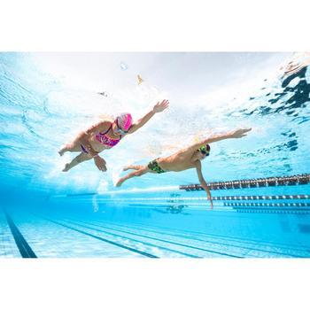 Bas de maillot de bain de natation fille résistant au chlore Jade noir rose - 1293828