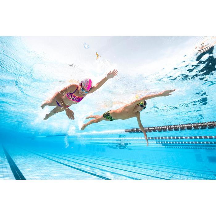 Sujetador-top de natación niña ultra resistente al cloro Jade jun Violeta