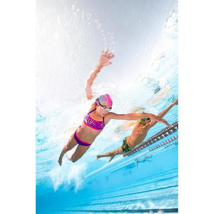 Bas de maillot de bain de natation fille résistant au chlore Jade noir rose - 1293829