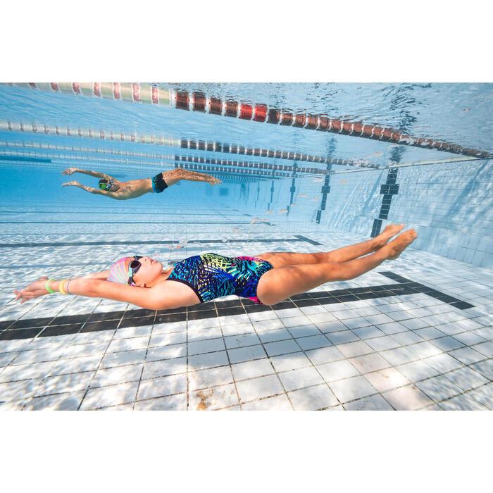 Maillot de bain de natation une pièce fille résistant au chlore Jade - 1293830