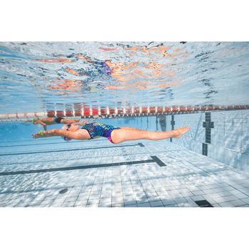 Maillot de bain de natation une pièce fille résistant au chlore Jade - 1293834