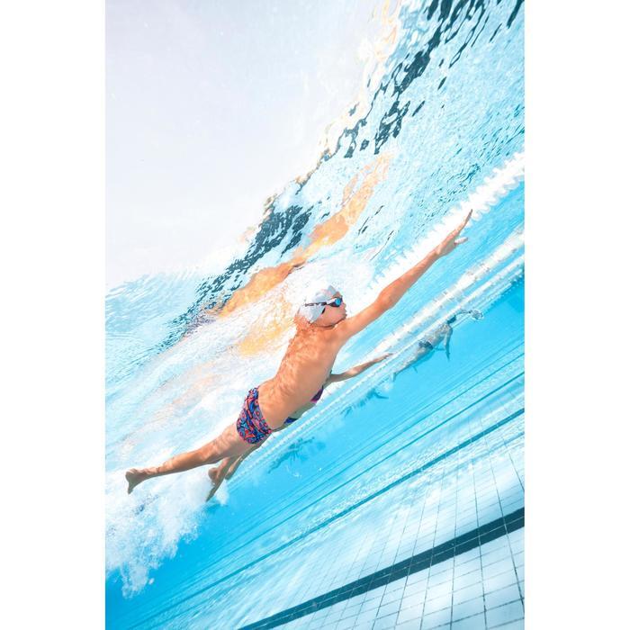 Zwemboxer voor jongens 500 Print Allowla oranje