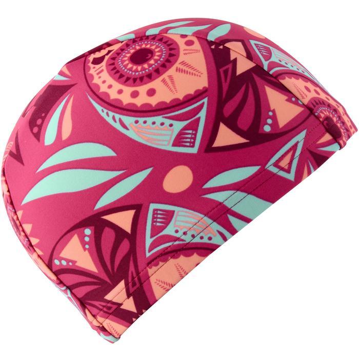 Badmuts uit textiel print maat S All Owli roze