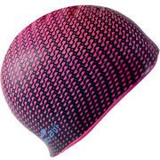 Rožnata silikonska plavalna kapa