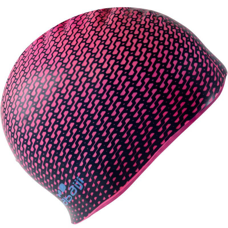 500 SILICONE PRINT SWIMMING CAP - TEC PINK