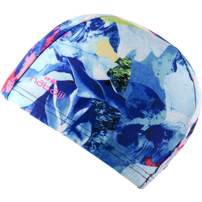 Badmuts textiel print maat L All Min blauw