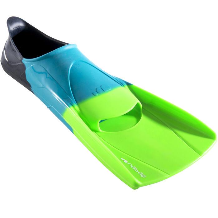 Schwimmflossen kurz Silifins 500 Erwachsene & Kinder dreifarbig