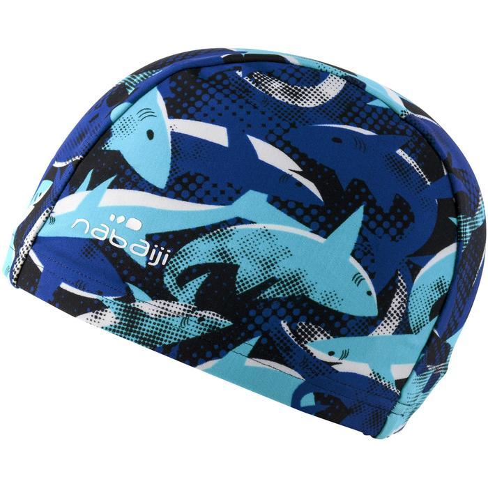 Badmuts textiel Print maat S All Jaws blauw