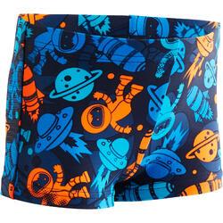Zwemboxer Titou voor jongens all astro blauw