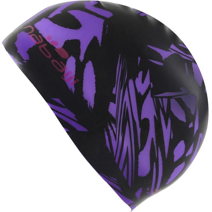 Badekappe Silikon Print Wing violett