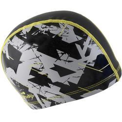 矽膠網格印花泳帽尺寸L -乾燥 黑色