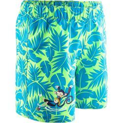 Short de natación bebé niño estampado all palm verde