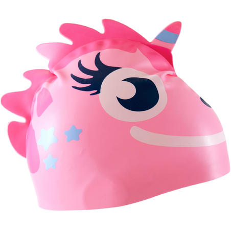 SILICONE FORM SWIM CAP - UNICORN PINK