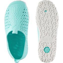 Schoenen aquagym aquafitness Aquadots groen/wit
