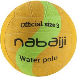 Wasserball Water Polo Größe 3 gelb/grün