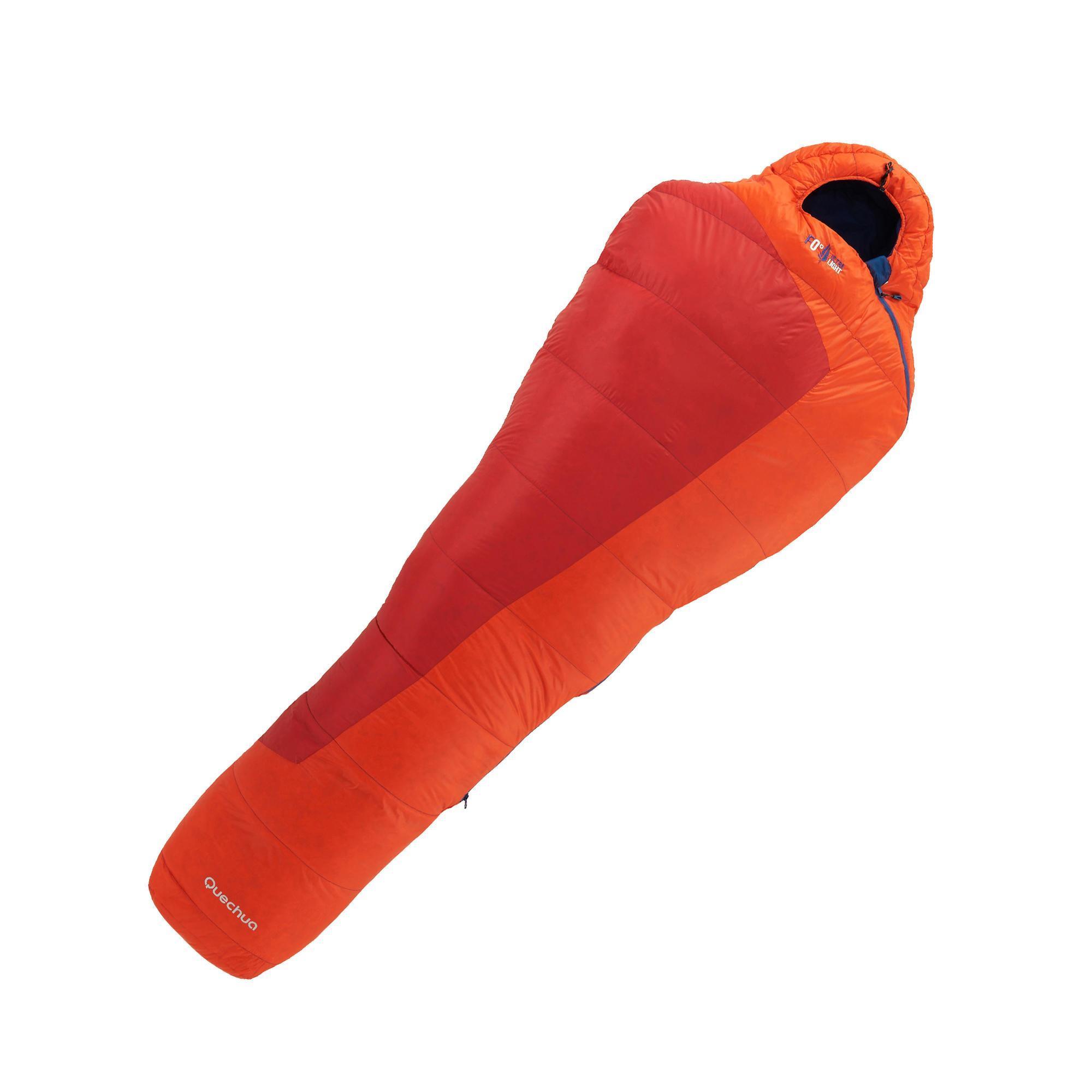 sac de couchage de randonn e forclaz 0 ultralight rouge quechua. Black Bedroom Furniture Sets. Home Design Ideas